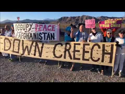Antidrohnen-Proteste vor der US Air Force Base Creech