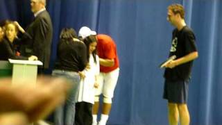 Rafael Nadal apologizes after accidently hitting little girl with ball