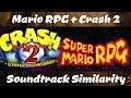 Mario RPG + Crash Bandicoot 2: Soundtrack Similarity
