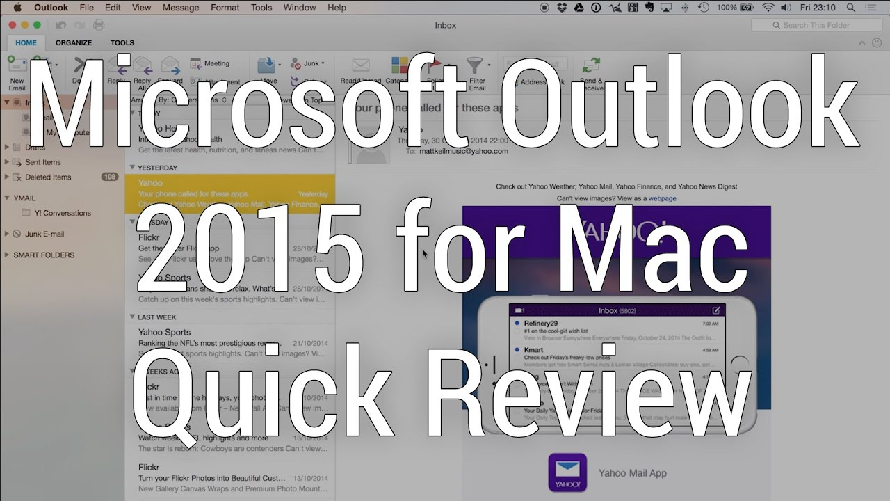 Microsoft Outlook for Mac 2015 (NEW RELEASE) - Quick Review