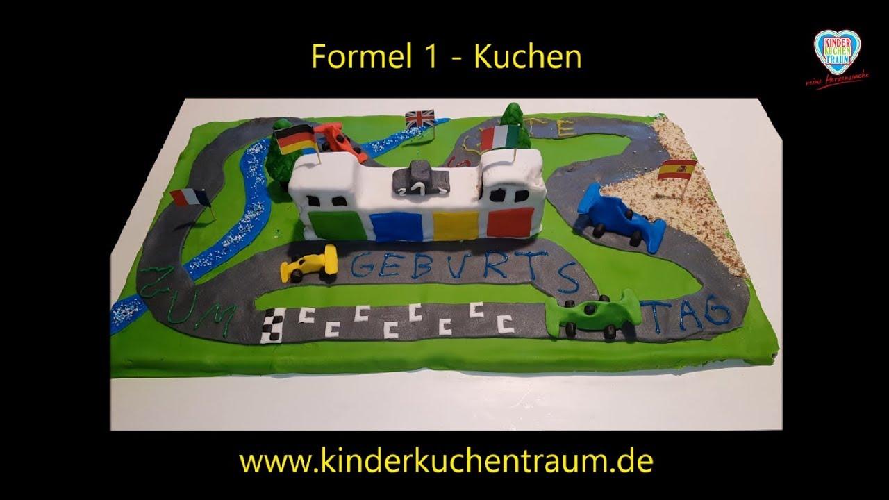 F1 Kuchen Anleitung Formel 1 Kuchen F1 Cake Youtube