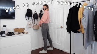 BACK TO SCHOOL OUTFIT IDEAS | comfy & cute outfits to help you survive the school year