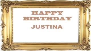 Justina   Birthday Postcards & Postales - Happy Birthday