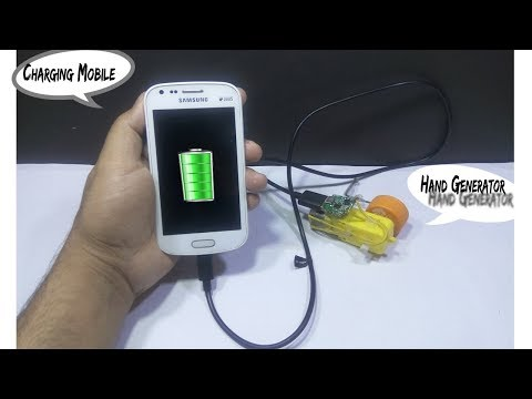 Free Energy Mobile Charger | Diy hand generator | Jahirul