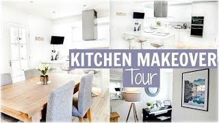 WHITE KITCHEN + DINING AREA MAKEOVER TOUR! | MODERN, SCANDINAVIAN + MINIMALISTIC