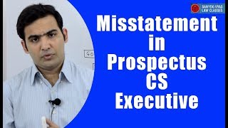 CS Executive | CA Inter | Company Law | Misstatement in Prospectus | Law Lectures