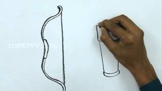 How to Draw a Bow & Arrow