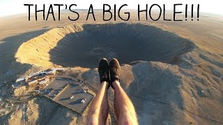 Exploring A Meteor Crater From The Air