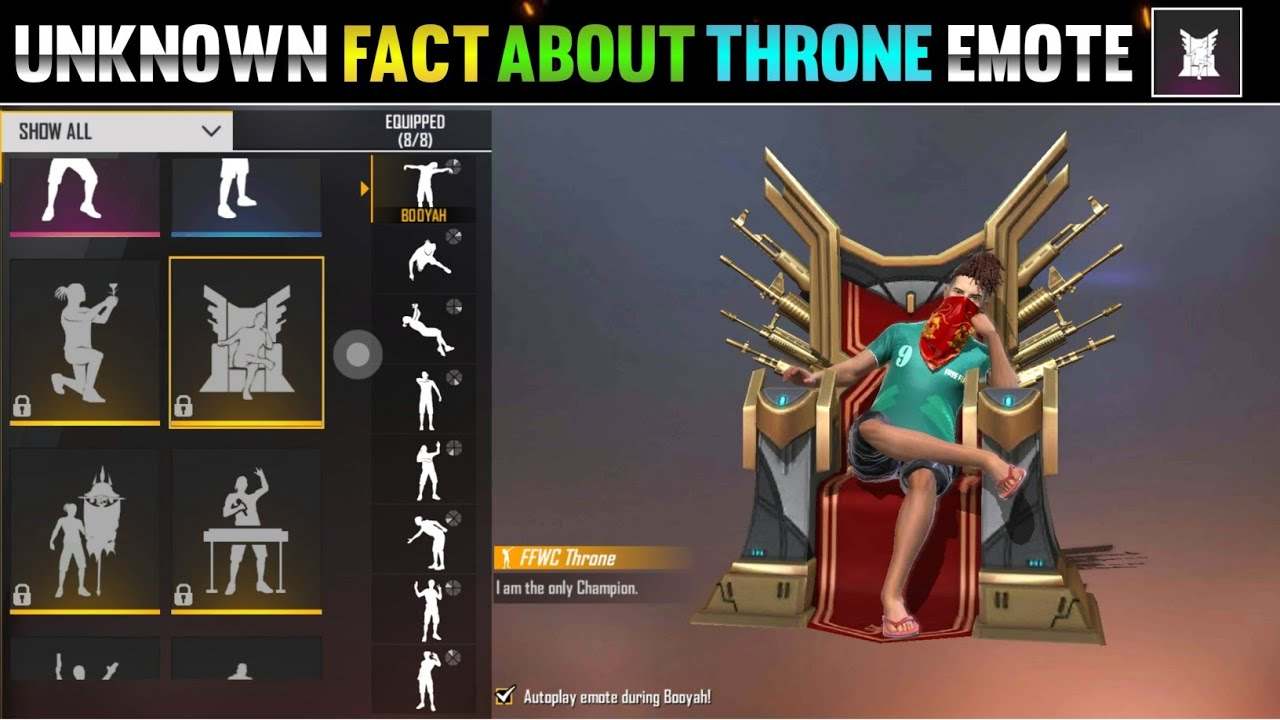 UNKNOWN FACT ABOUT THRONE EMOTE IN FREE FIRE || #shorts #freefire #garenafreefire