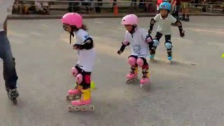 roller BLADE practice day for kids in Taipei- Daan park