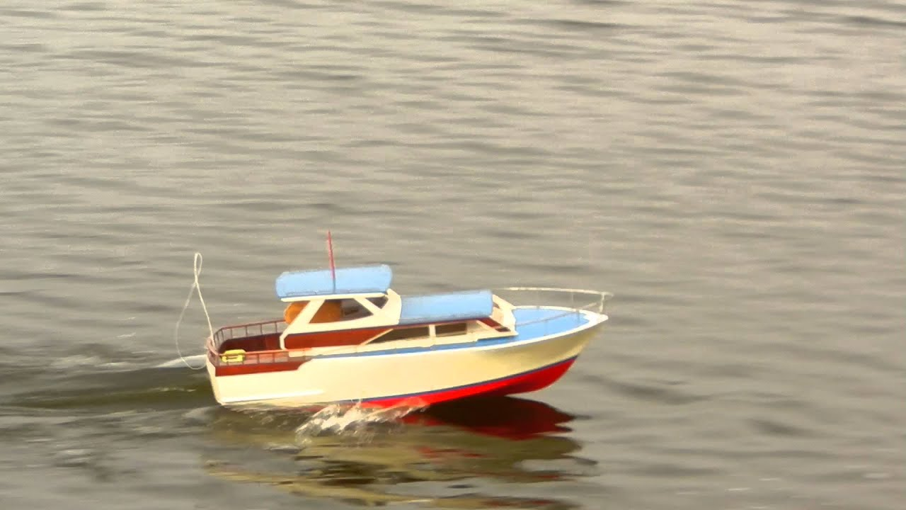 Ordinaire Scratch Built Trojan RC Cruiser Boat Model 12 05 2012   YouTube