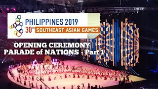 SEA GAMES 2019 OPENING CEREMONY | Parade of Nations Part 1