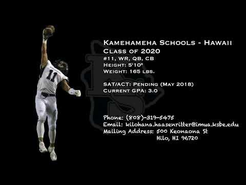 Kilohana Haasenritter #11 2020 sophomore highlights.
