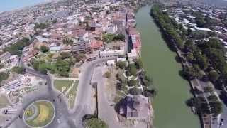 Georgia ,Tbilisi  from the sky (video HD)