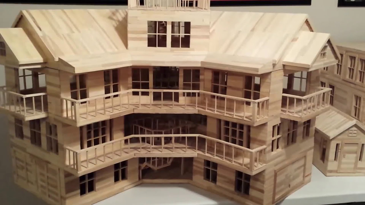 Popsicle Stick Mansion Plans