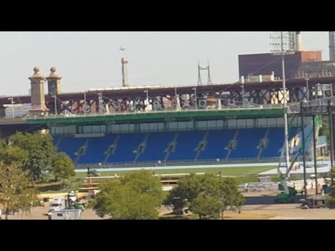 Icahn Stadium Track And Field Venue On Randall's Island In New York City
