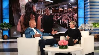 Dwayne Johnson admitted to Ellen that he got a major crush on Frances McDormand after she was very kind to his daughter at the Golden Globes.