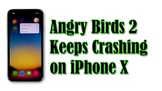 Fixing Angry Birds 2 That Keeps Crashing on iPhone X After iOS 14