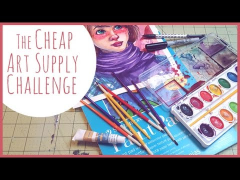 The cheap art supply challenge youtube for Where to buy cheap craft supplies