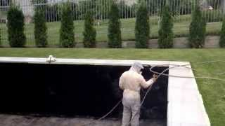 Гидроизоляция бассейнов, водоемов жидкой резиной(сайт - http://okraska-profi.com.ua/ Гидроизоляция бассейнов, водоемов жидкой резиной черного цвета (эластичность более..., 2014-06-02T05:53:39.000Z)