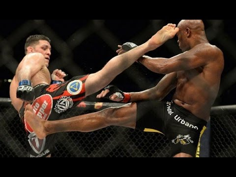 Anderson Silva vs Nick Diaz FIGHT HIGHLIGHTS