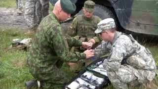 U.S. Army Europe paratroopers train with counterparts in Lithuania