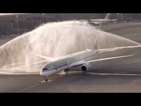 Qatar Airways Airbus A350-1000 delivery from Toulouse to Doha