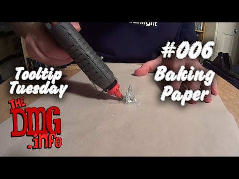Tooltip: Using Parchment paper in crafts (Baking paper, grease paper, wax paper, etc) DMGTTT#006