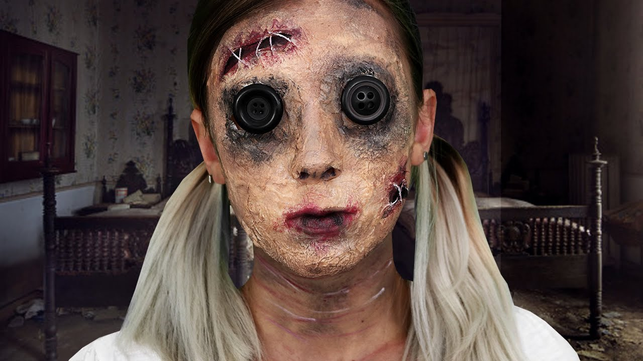 Vieille poup e de chiffon maquillage halloween youtube - Maquillage poupe demoniaque ...
