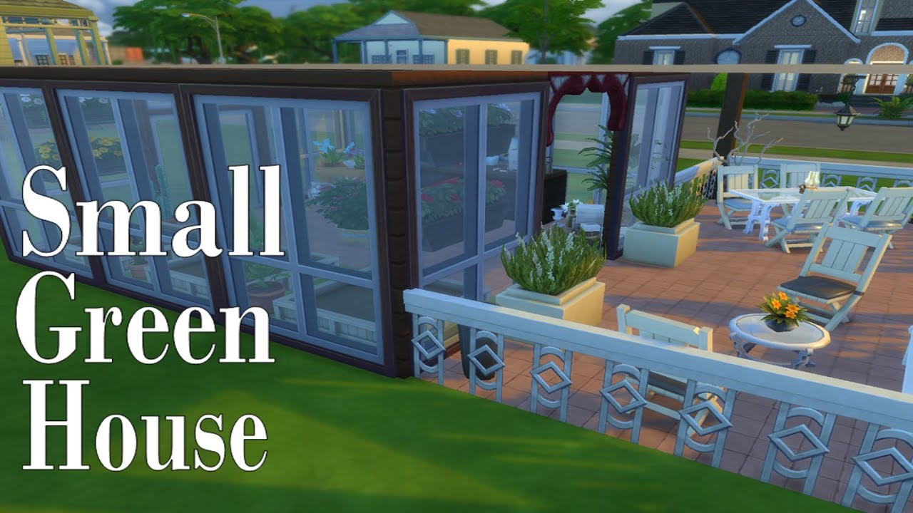 the sims 4 room small greenhouse base game simspinky youtube