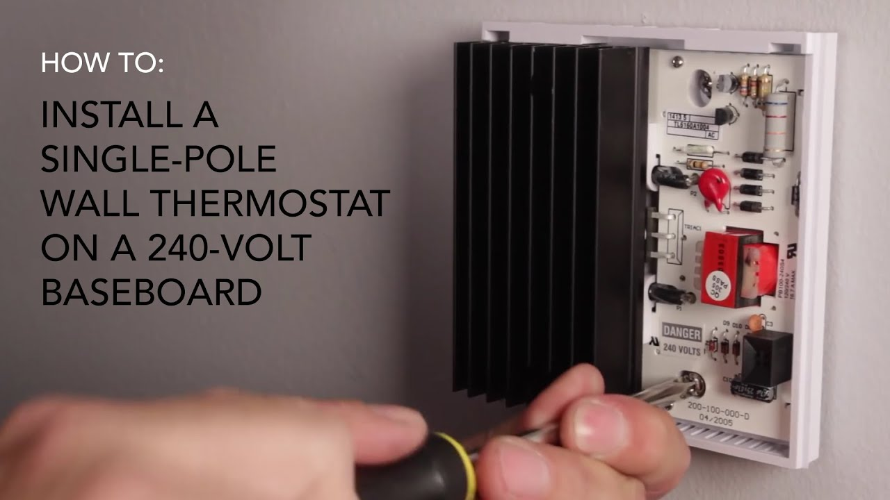How to install wall thermostat single pole on 240v baseboard how to install wall thermostat single pole on 240v baseboard cadet heat youtube asfbconference2016 Image collections