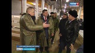 Губернатор осмотрел строительство социальных объектов Ямальского района