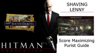 Barbershop High Score Guide, Shaving Lenny, Hitman Absolution, Remove Evidence (141100 Score)