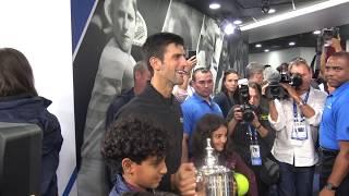 2018 US Open: BEHIND THE SCENE #3 - Novak Djokovic post-match​ celebration.