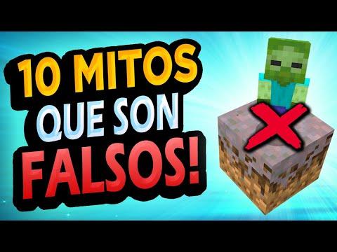 ✅ 10 Mitos de Minecraft que son FALSOS!! #6