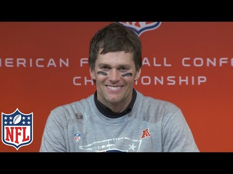"Tom Brady's AFC Championship Postgame Presser, ""That's why you play all four quarters"" 