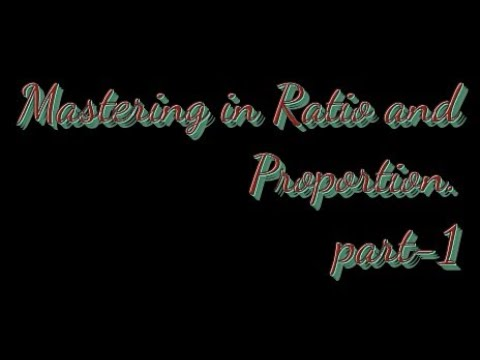 Ratio and Proportion for ssc, banking, cds etc part-1