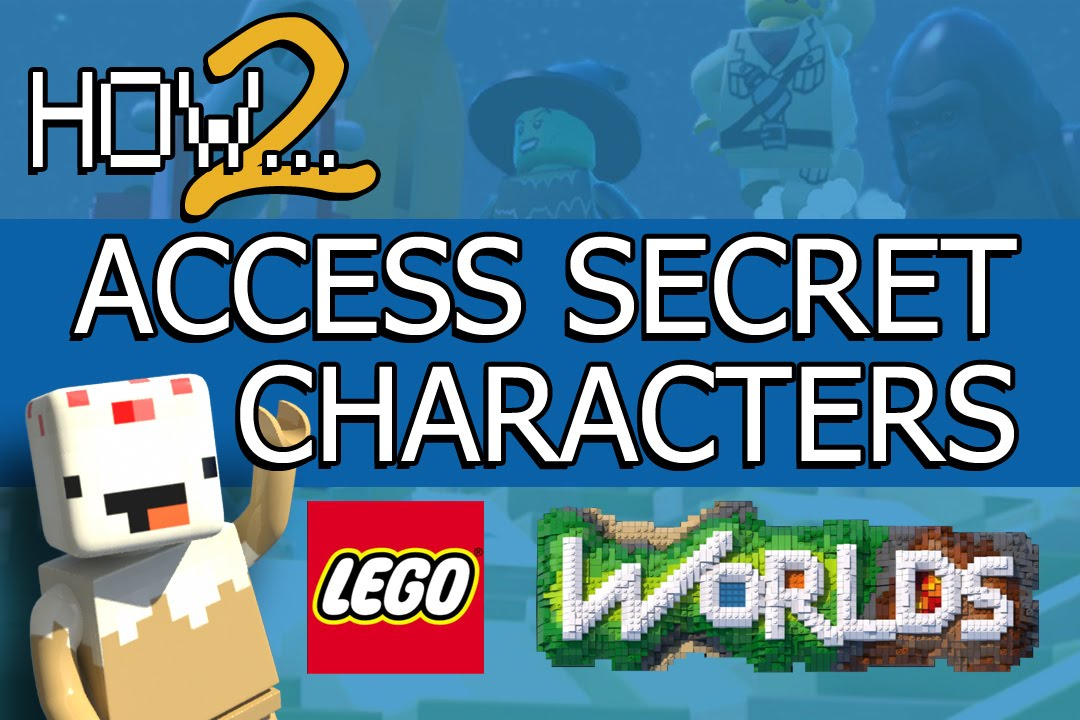 LEGO Worlds Guide: Access Secret Characters - YouTube
