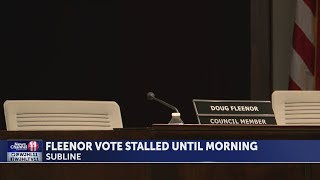 Final vote on City Councilman Doug Fleenor stalled after last minute resignation