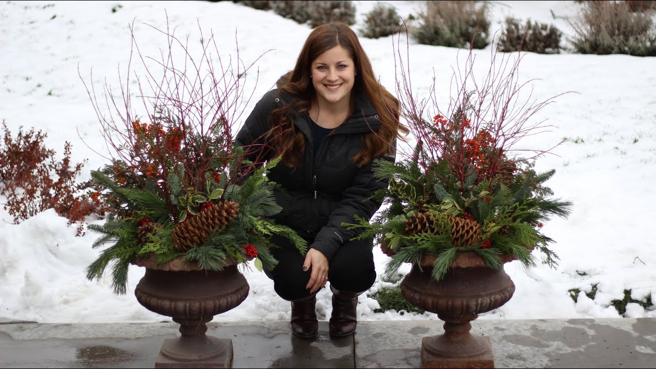 How to make a winter planter youtube how to make a winter planter solutioingenieria