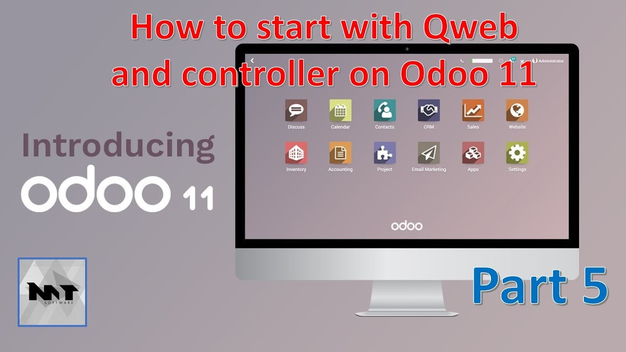 How to start with Qweb and Controller on Odoo 11