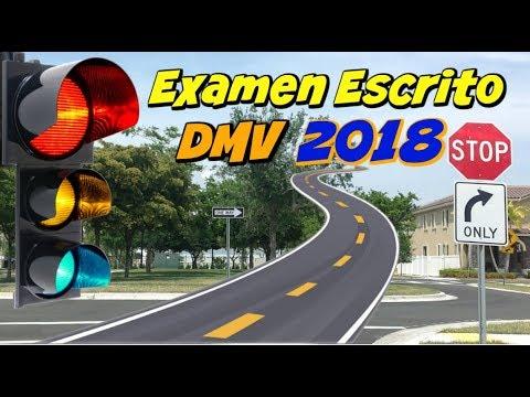 EXAMEN DE MANEJO ESCRITO EN ESPAÑOL 2018/DMV/PREGUNTAS Y RESPUESTAS