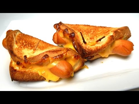 GRILLED CHEESE HOT DOG SANDWICH - Inspire To Cook - Incredible Recipe