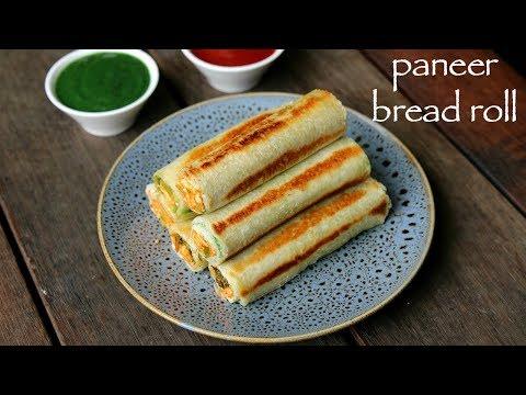 paneer bread roll recipe | bread paneer rolls | paneer stuffed bread rolls