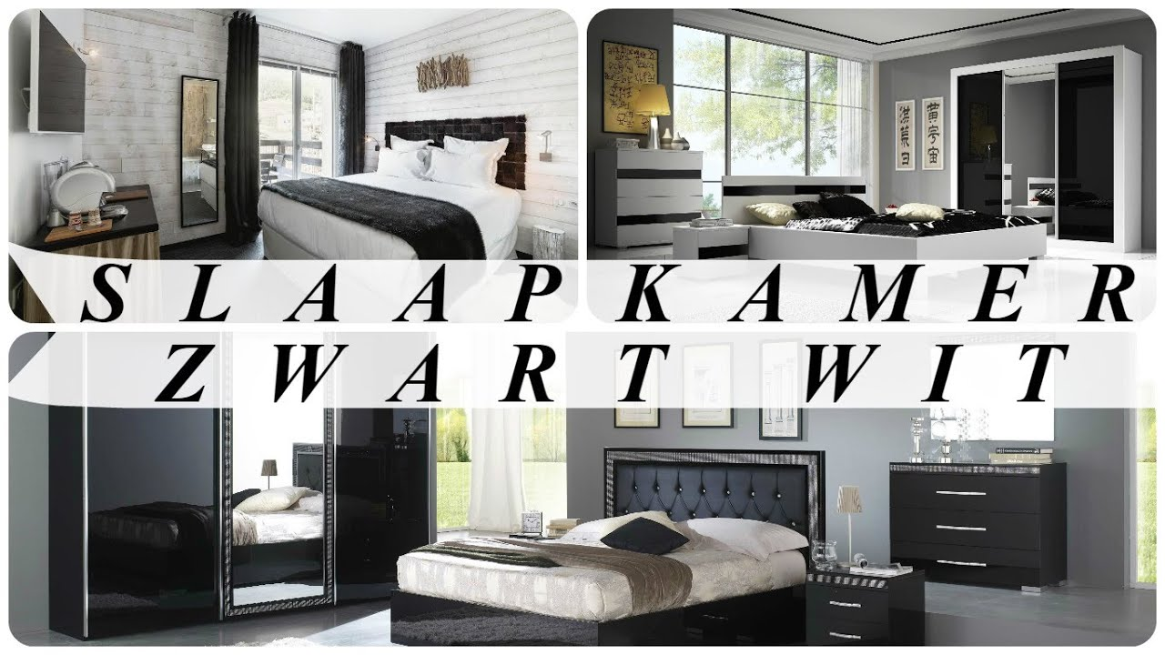 Slaapkamer zwart wit - YouTube