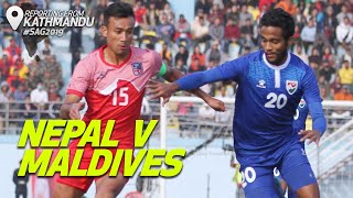 Highlights - Nepal v Maldives | Men's Football | 13th South Asian Games 2019