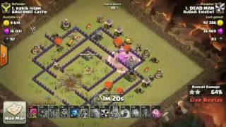 Clash Of Clans : RuDrA TrIdEnT Vs BAGERHAT Castle waR Num: 212