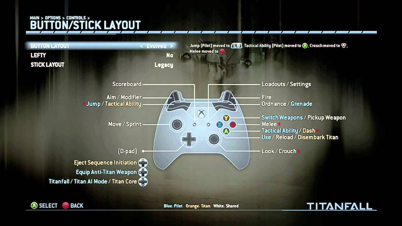 TitanFall Controller Layouts | bumper jumper is back