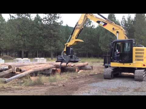 Hahn HFP-160 On CAT Excavator