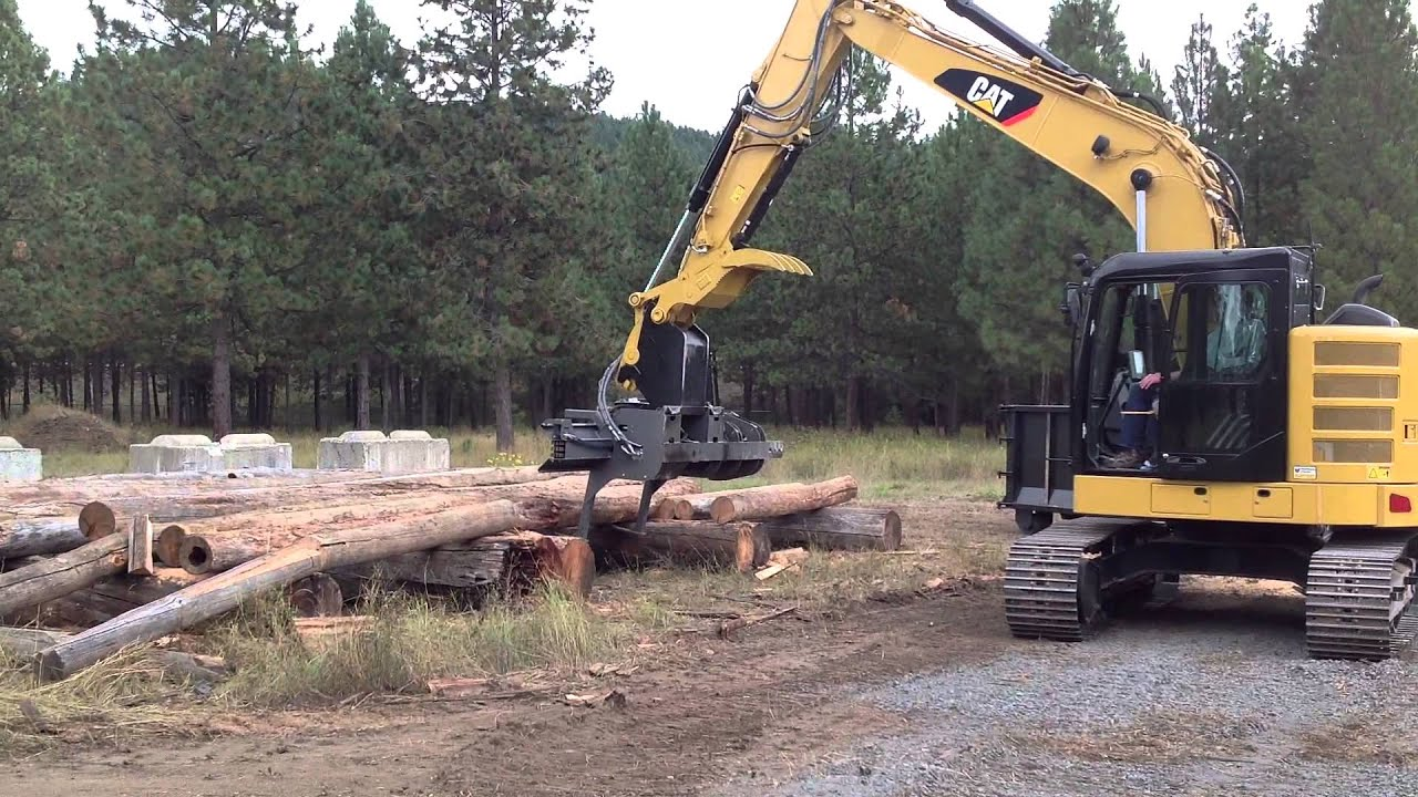 Hammerhead Ssp160 On Cat Excavator Youtube